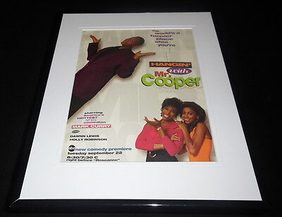 Hangin With Mr Cooper 1992 ABC Framed 11x14 ORIGINAL Advertisement Mark Curry