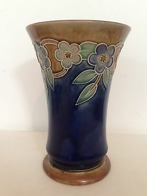 Antique Royal Doulton 1923-7 Flower Design Vase England Trumpet Shape 20.5cm H