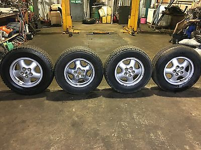 """Range Rover P38 2.5 4.6 4.0 16"""" Alloy Wheels With Tyres 255/65/16 94-02"""