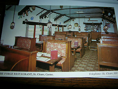 Vintage postcard 1960s St Clears FORGE RESTAURANT Wales stylised kitsch