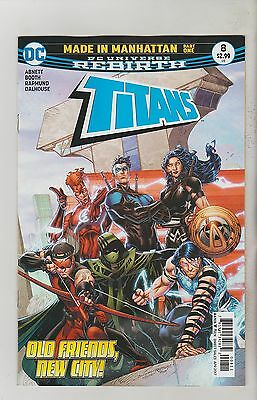 Dc Comics Titans #8 April 2017 Rebirth 1St Print Nm