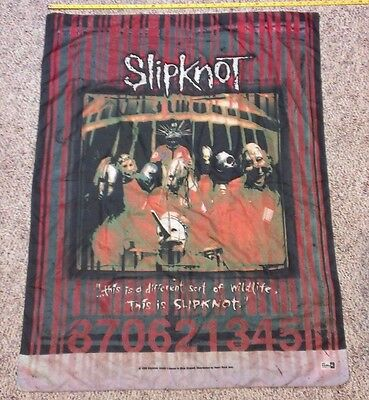 "SLIPKNOT ..Wildlife.. 31"" x 42"" Cloth Poster Flag Wall Banner USED Made in Italy"