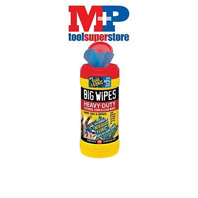 Big Wipes 2420 4x4 Heavy-Duty Cleaning Wipes Tub of 80