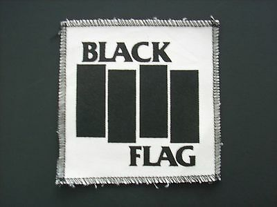 NEW PUNK BLACK FLAG CLASSIC BARS 5x5 INCH CANVAS PATCH FREE SAME DAY SHIPPING