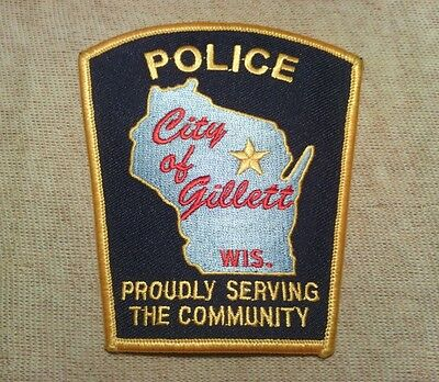 WI Gillett Wisconsin Police Patch