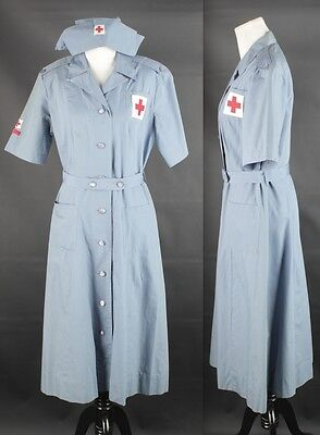 VTG Women's WWII American Red Cross Production Corps Uniform 1940s 40s #1340 WW2
