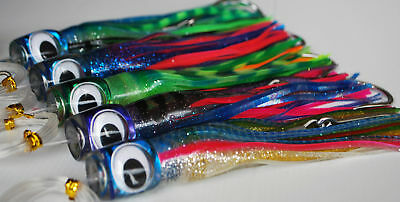 """5 Pack of 8"""" Prowlers. Game Fishing Lures. Rigged. Trolling Lures. Marlin, Tuna"""