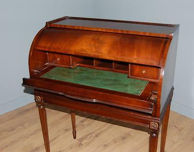 Stunning Roll Top Writing Bureau Walnut Veneer Cameo Furniture by Sklan