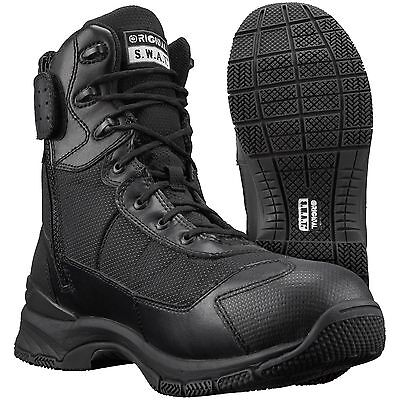 "Original S.w.a.t. Womens H.a.w.k. 9"" Side-Zip Tactical Boots Sz 6 Black New"