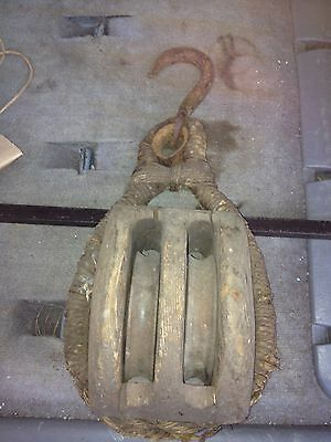 "1930's 18 1/2"" Nautical Pulley"