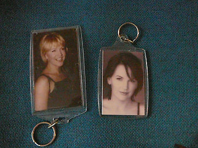 Lot Of 2 Renee O'connor Keychains / Keyrings (Xena Gabrielle) Set D