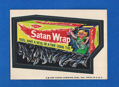 1975 Topps  Original  Wacky Packages 14th Series Hippy Trash Bags tan back