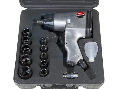 17pcs 1/2 Air Compressor Impact Wrench Kit Metric Sockets Extension