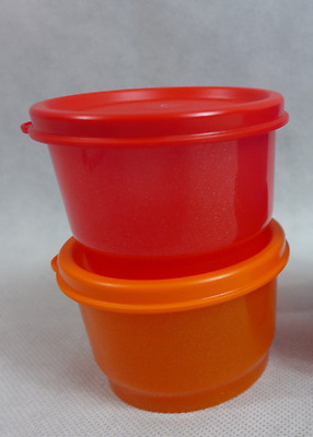 Two x Tupperware 4-oz Snack Cups & Seals Set~Great for Lunch Sides~Starlight New