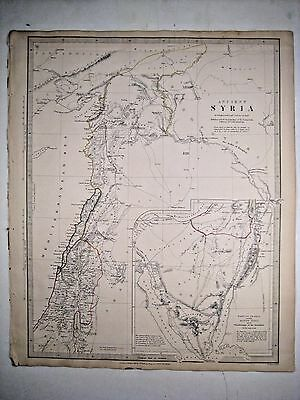 1843 SDUK: Map of Ancient Syria, including Palestine, with inset of Sinai