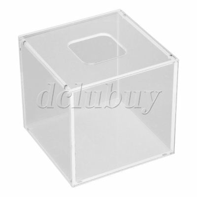 Transparent Acrylic Square Tissue/Paper Box Cover 12.5 x 12.5 x 12cm