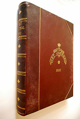 """Large Half Leather 1897 copy of """"The Art Journal"""" HENRY HENSHALL STANHOPE FORBES"""