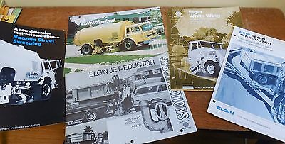 10 vintage circa 1970 Elgin Catalogs! Street Sweepers; White Wing; Whirlwind etc