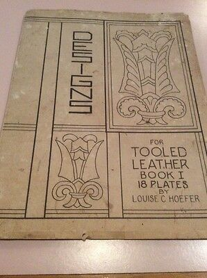 Designs For Told Leather Book 118 Plates By Louise C Hoefer 19388