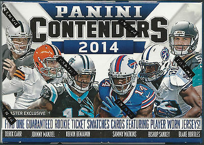 2014 PANINI Contenders FOOTBALL 40 Card  5 Pack Box 1 Rookie Jersey Auto?