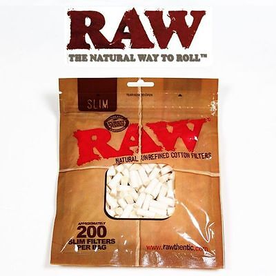 600 RAW REGULAR FILTERS Unbleached Cotton for RYO Cigarette Rolling Papers