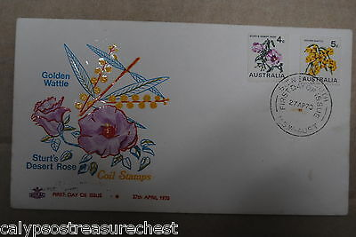 Australian Decimal First Day Cover Fdc - 1970 Floral Coil Stamps - Combined Post