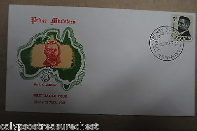 Australian Decimal First Day Cover Fdc - 1969 Pm Watson - Combined Post