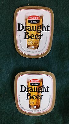 2x West End Draught Beer Labels