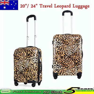 "20""/24"" Hard Shell 4 Wheel Spinner Suitcases Luggage Set Trolley Case Cabin Bag"