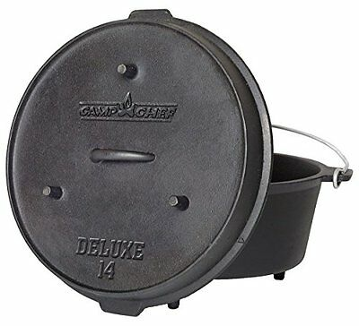 Camp Chef DO-14 Pre-Seasoned Deluxe 12qt 14in Dutch Oven with Lid