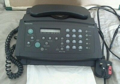 Philips HFC 171 Fax Telephone Answering Machine 5-in-1 System Business or Home