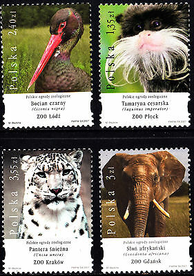 Poland 2007 Zoo Animals Complete Set of Stamps, MNH