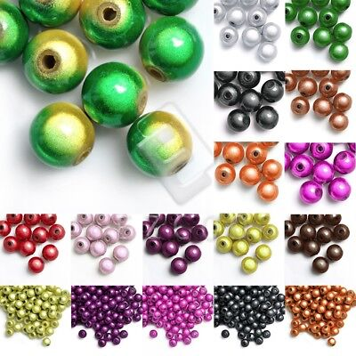 10/20/40/80/120pcs Round Acrylic Miracle Spacer Beads 18 Colours 4/6/8/10/12mm