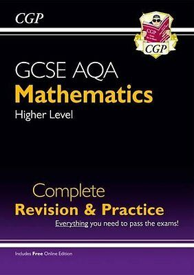 New GCSE Maths AQA Complete Revision & Practice: by CGP Books New Paperback Book