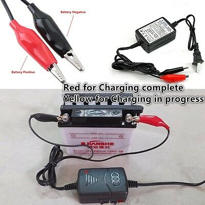 Car Motorcycle ATV Smart Compact Battery Charger Tender Maintainer New 100-240V