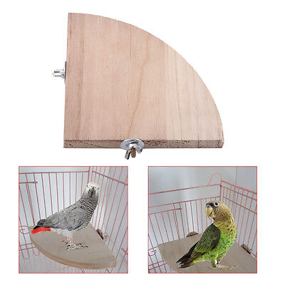 Wooden Parrot Bird Canary Cage Play Stand Perches Rest Platform Pet Toy