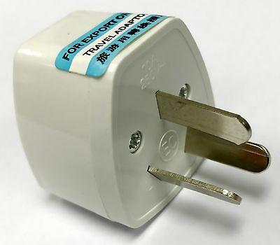 Universal UK USA EU - AU AC Power Point Plug Travel Adaptor Converter 3 Prongs