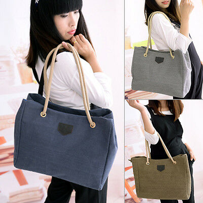 Women Shoulder Bag Satchel Crossbody Tote Handbag Purse Messenger Canvas