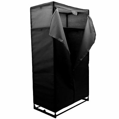 Storage Double Wardrobe Black Clothes Closet Hanger Bedroom New By Home Discount
