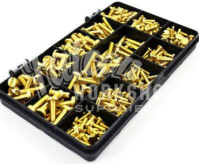 270 Assorted Piece Solid Brass M3 M4 M5 Slotted Pan Machine Screw Bolt Kit