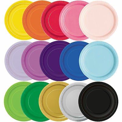 23cm Round Party Paper Plates Disposable Birthday Tableware Table Decorations