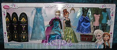 Disney Frozen Classic Anna and Elsa 1st Edition Deluxe Fashion Doll Gift Set New