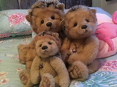Charlie Bears Isabelle Collection Hedgehogs - Prickle, Spike, Ouch LE No2