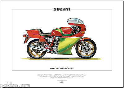 DUCATI MIKE HAILWOOD REPLICA - Moto Stampa Fine Art - Superbike, moto