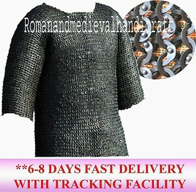 Flat Riveted Chainmail Shirt Medium 10 Mm Mild Steel Ring With Washer