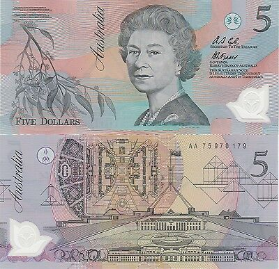 "Australia 5 Dollars Banknote (1992) Uncirculated Condition Cat#50-A""Polymer"""