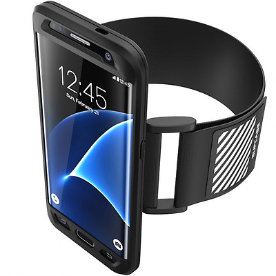 Galaxy S7 Edge Armband, SUPCASE Easy Fitting Sport Running Armband with Premium