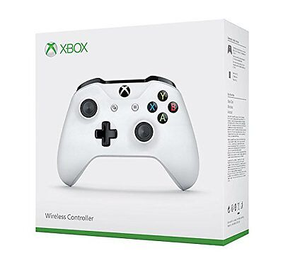 Xbox One White Wireless Controller with 3.5mm Jack - Textured Grip 2016 Model