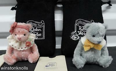 R. John Wright 2004 Bitty Bears Pinkie And Baby Blue Coa' Matching Tags 108 /350