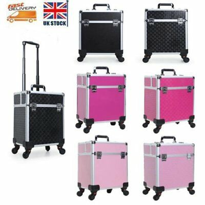 New Cosmetic Make up Vanity Case Trolley Beauty Hairdressing Makeup Nail Art Box